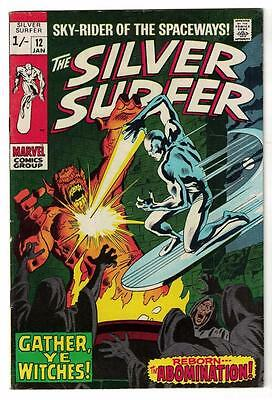 MARVEL Comics SILVER SURFER  Issue #12 Galactus Fantastic four FN 6.0 1970