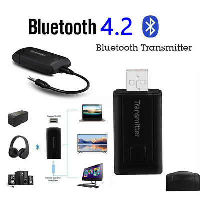 3.5mm Stereo  USB Transmitter Bluetooth Adapter Wireless Dongle Music Audio