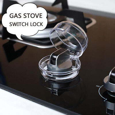 Clear 2pcs Stove Knob Covers Safety for Baby Kids Protection Gas Lock