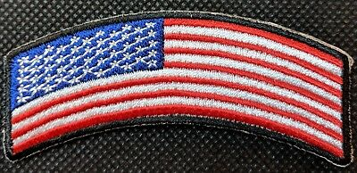 American Flag Mini Rocker Biker Patch