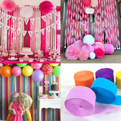 Crepe Paper Rolls 81ft Streamer Wedding Birthday Party Decoration