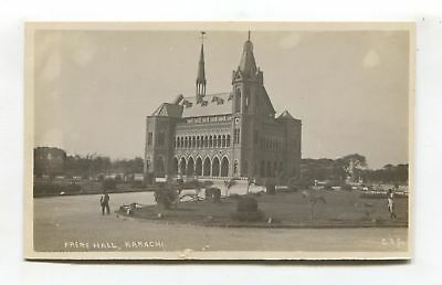 Karachi - Frere Hall - old India (later Pakistan) real photo postcard