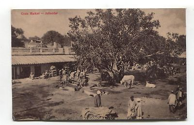 Jullundur - Grain Market - old India postcard
