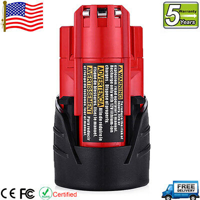 For Milwaukee M12 Lithium 2.5 Compact Battery 48-11-2420 48-11-2401 48-11-2411
