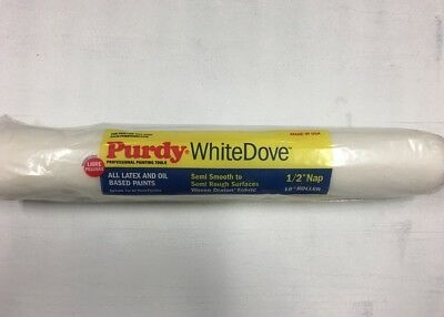 """Purdy white dove 18"""" roller sleeve 1/2"""" nap"""