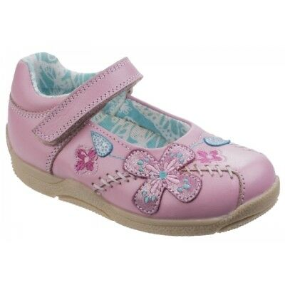 Hush Puppies MILLIE Girls Kids Touch Fasten Floral Mary Jane Casual Shoes Pink