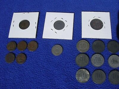 Lot of 18 Germany Empire 1800's & 1900's World Coins German