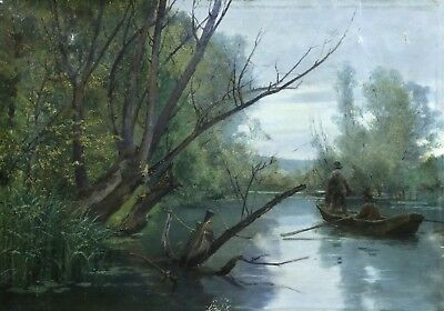 LOUIS LE POITTEVIN (1847-1909) SIGNED LARGE FRENCH IMPRESSIONIST OIL to £28,000