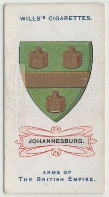 Johannesburg South Africa  British Empire Coat Arms 100+ Y/O Trade Ad Card