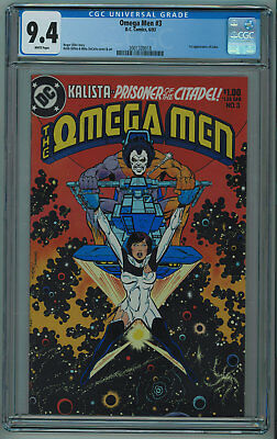 Omega Men #3 Cgc 9.4 1St Lobo High Grade White Pgs 1983 018