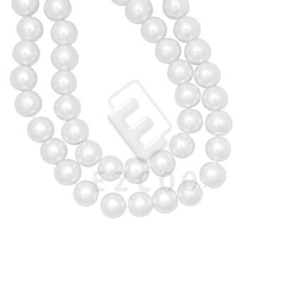 200pcs White Glass Pearl Round Spacer Beads Loose 4x4mm Wholesale GP0001-1