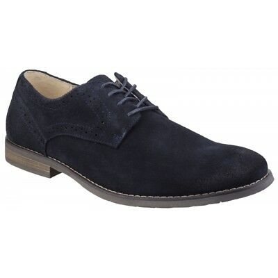 Hush Puppies SEAN CASUAL Mens Lace Up Derby Office Smart Casual Shoes Navy