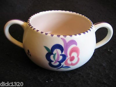 """VINTAGE POOLE HAND-PAINTED FLORAL PATTERN 5"""" POSY BOWL Signed KG 1959-67 EX"""