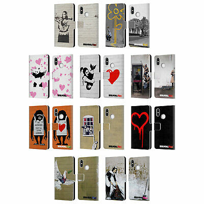 Official Brandalised Art Branded Graffiti Leather Book Case For Xiaomi Phones