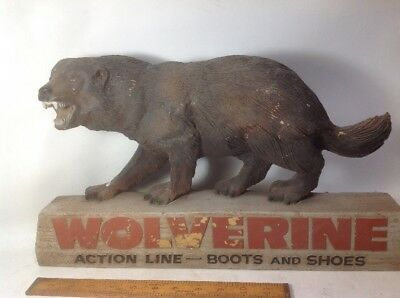 Vintage WOLVERINE Boots & Shoes 3D Advertising Display