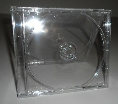 (1 New) Standard Single Clear Jewel Case CD/DVD Replacement Blank Empty Cases