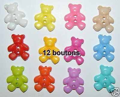 LOT 12 BOUTONS OURSON  COUTURE MERCERIE Scrapbooking