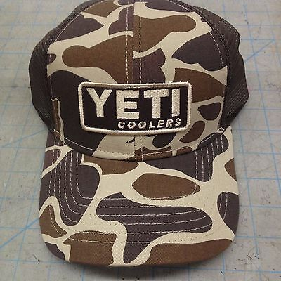 YETI Brown Camouflage Trucker Hat One Size Fits All Cotton Twill SNAP BACK ( NEW) de2603bf31e2