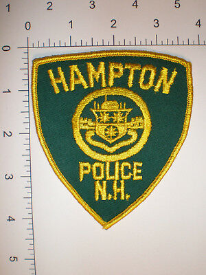 NH New Hampshire HAMPTON Police VINTAGE patch - CHEESE Cloth back
