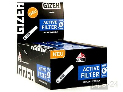 "GIZEH 10 x 34 "" Active Filter Slim "" 6mm mit Aktivkohle 