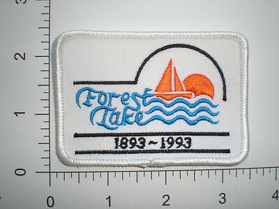MN Minnesota Forest Lake 100 Year Anniversary Police patch