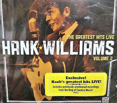 The Greatest Hits Hank Williams NEW! CD Live Vol. 2,10 Best of Tracks,Time Life