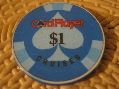 Card Player Cruises Vintage $1 Casino Chip