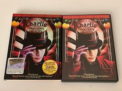 Charlie and the Chocolate Factory DVD 2005 2-Disc Widescreen Deluxe Slipcover