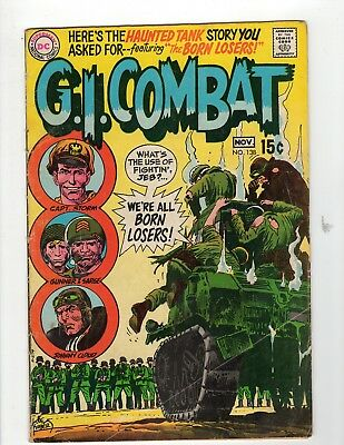 G.I. Combat #138 VG- 3.5 Off White Pages Intro Losers