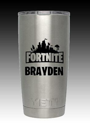 20 Oz Personalized Stainless Yeti Cup Fortnite Christmas Free Ship