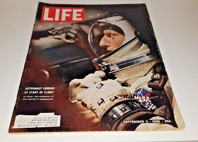 September 3, 1965 LIFE Magazine Gemini 5. 60s ads adds ad FREE SHIPPING Sept. 9