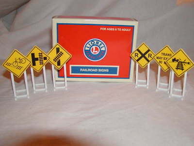 Lionel 6-37120 Yellow Railroad Crossing Signs O 027 MIB 2013 New 6 Signs