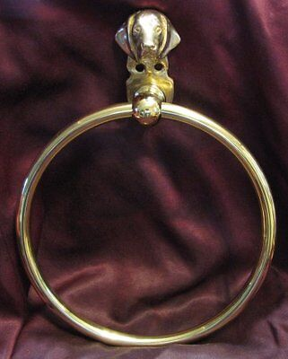 GERMAN SHORTHAIRED POINTER Bronze Towel Ring!