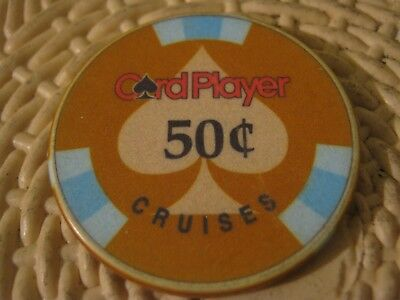 Card Player Cruises Vintage 50 cents Casino Chip