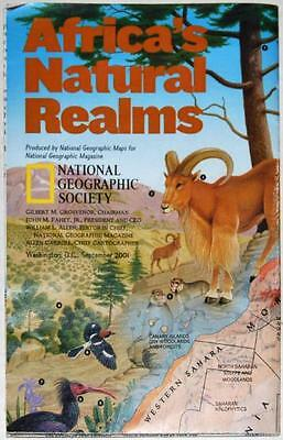 Africa's Natural Realm ~ National Geographic Society ~ Large Fold-Out