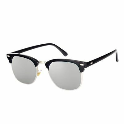 01f4d8dbaf Pro Acme Classic Semi Rimless Polarized Clubmaster Sunglasses with Metal  Rivets