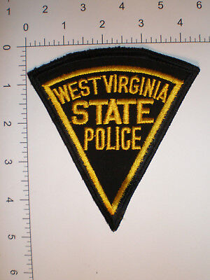 WV West Virginia State Police Highway Patrol VINTAGE patch CHEESE cloth back