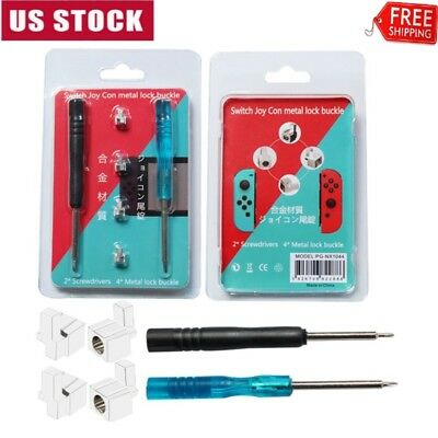 Metal Lock Buckles-Latch for Nintendo Switch Joy Con with 2 Screwdrivers 4PCS US