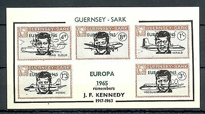 Local Sark 1 Imperf Block   **   Mnh Vf Overprint - Europa 1965 -Kennedy
