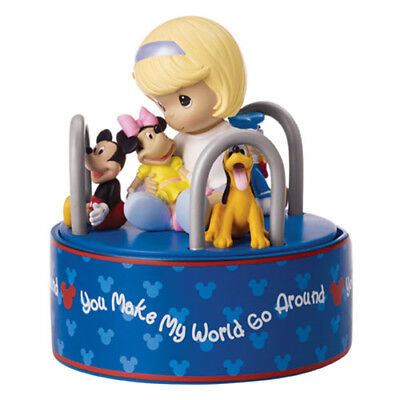 "Precious Moments ""You Make My World Go Around"" Resin Music Box"