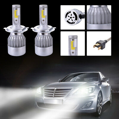 2x 20000LM 110W LED Headlight H4 Phare voiture Ampoule Halogène 6500K CREE LD973