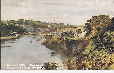 c wales welsh early old antique  postcard united kingdom chepstow