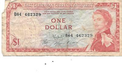 Good Ostkaribisch 1 Dollar Nd east Caribbean Currency Authority 1965 P-13e