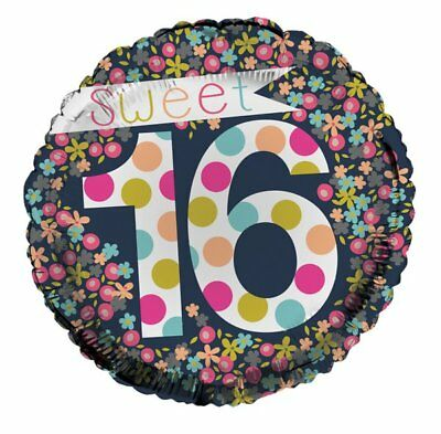 CELEBRATE SWEET SIXTEEN Happy Birthday Foil Balloon Bouquet Party