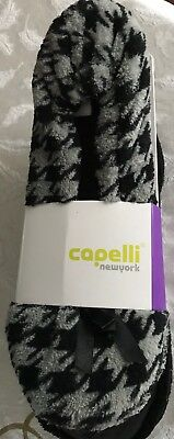 Women Capelli New York Ballerina Slippers 2 PACK Houndstooth/Solid LARGE 8-9 New