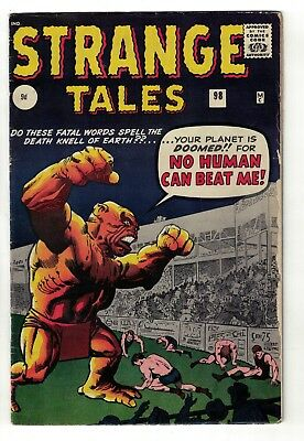 Atlas Marvel Comics Strange tales 98 VGF 5.0  no planet can beat me 1962 silver