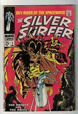 MARVEL COMICS issue 3 1st Mephisto  SILVER SURFER fantastic four VGF 5.0 1969