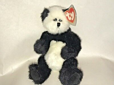 Ty Beanie Baby - CHECKERS  -  MWT Plush Toy Teddy Bear - King Me Jointed