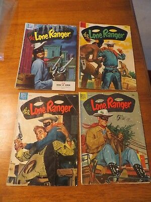 Dell Comic Lot of 4 The Lone Ranger comics 1955