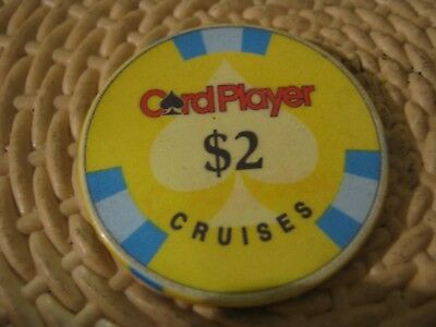 Card Player Cruises Vintage $2 Casino Chip